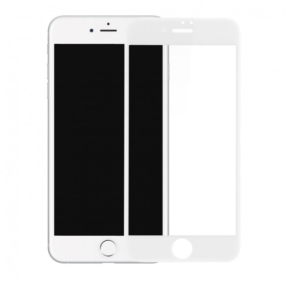 9D tvrzené sklo (Tempered Glass) na Apple iPhone 8 / 7 - Anti-blue-ray - bílé